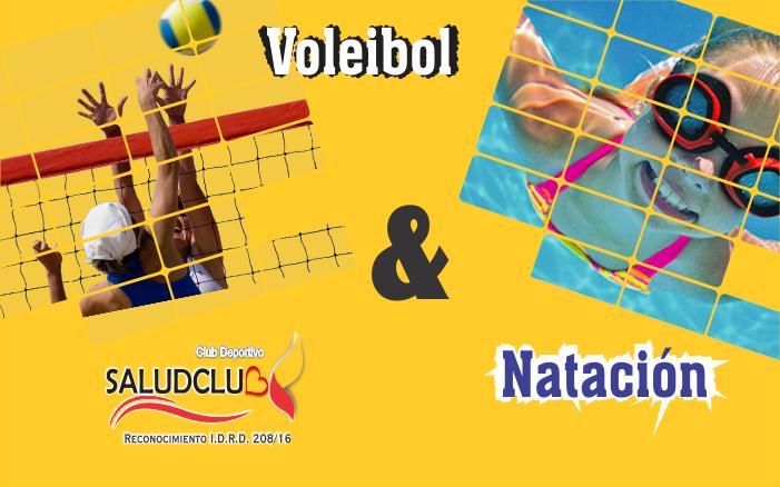combos deportivos voleibol y natación